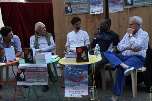 Faubert Bolivar participant au débat en compagnie de Pierre Debauche et Marc Belit