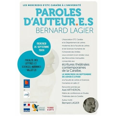 PAROLES D'AUTEUR.E.S B LAGIER